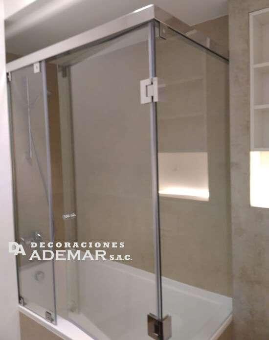 puerta de vidrio para duchas