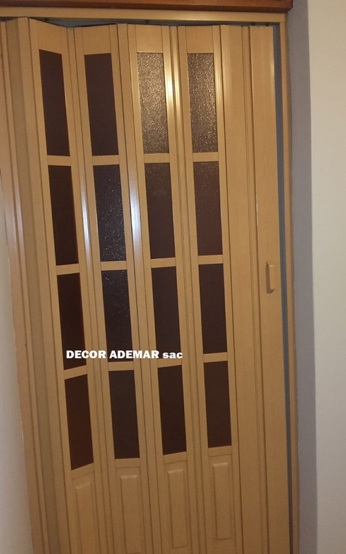 puertas plegables color roble