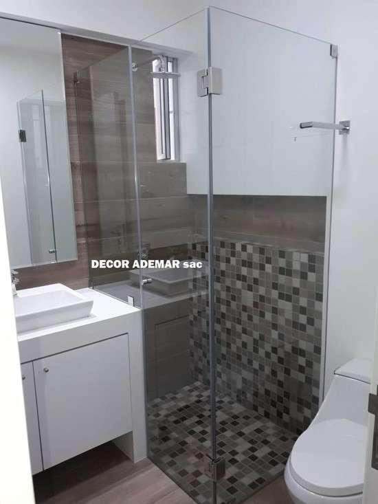 puertas para duchas batiente de vidrio