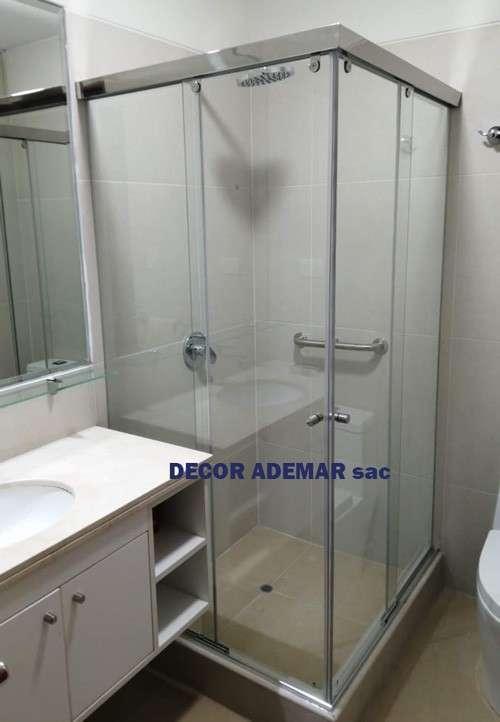 puertas para duchas en vidrio