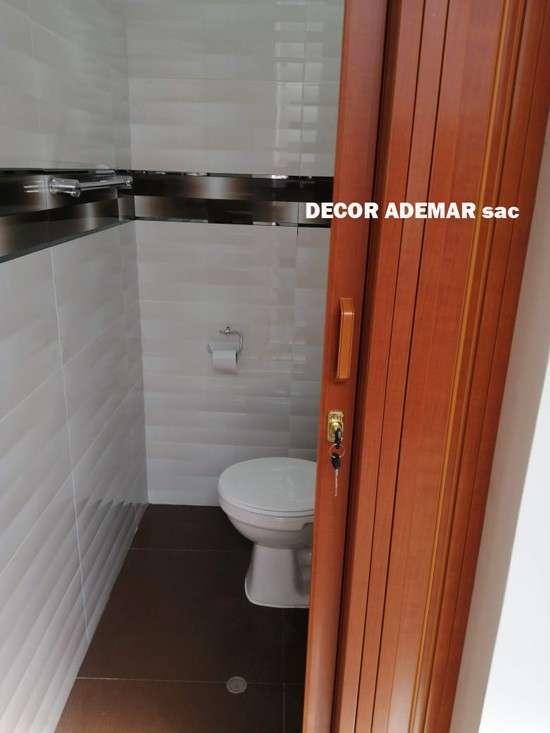 puertas plegable para baños